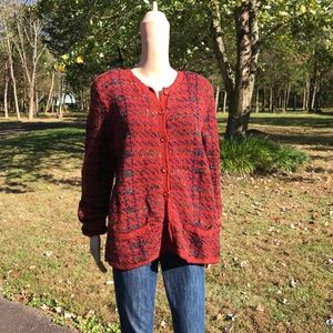 Vintage Peruvian Connection Wool Cardigan Sweater